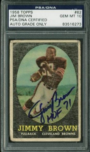 Lot Detail 1958 Topps Jim Brown Signed Rookie Card Psa