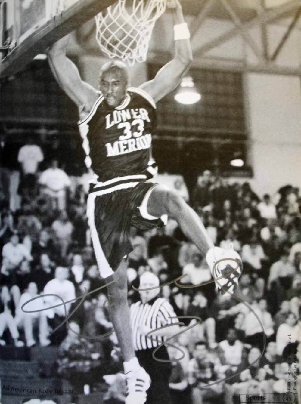 8a039d3af Kobe Bryant Signed 1996 Lower Merion High School Yearbook (JSA) ...