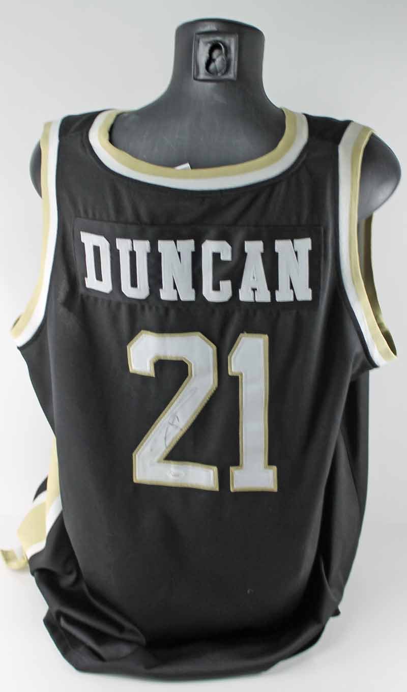 cheap for discount dfec5 037fb Lot Detail - Tim Duncan Rare Signed Wake Forest Jersey (JSA)