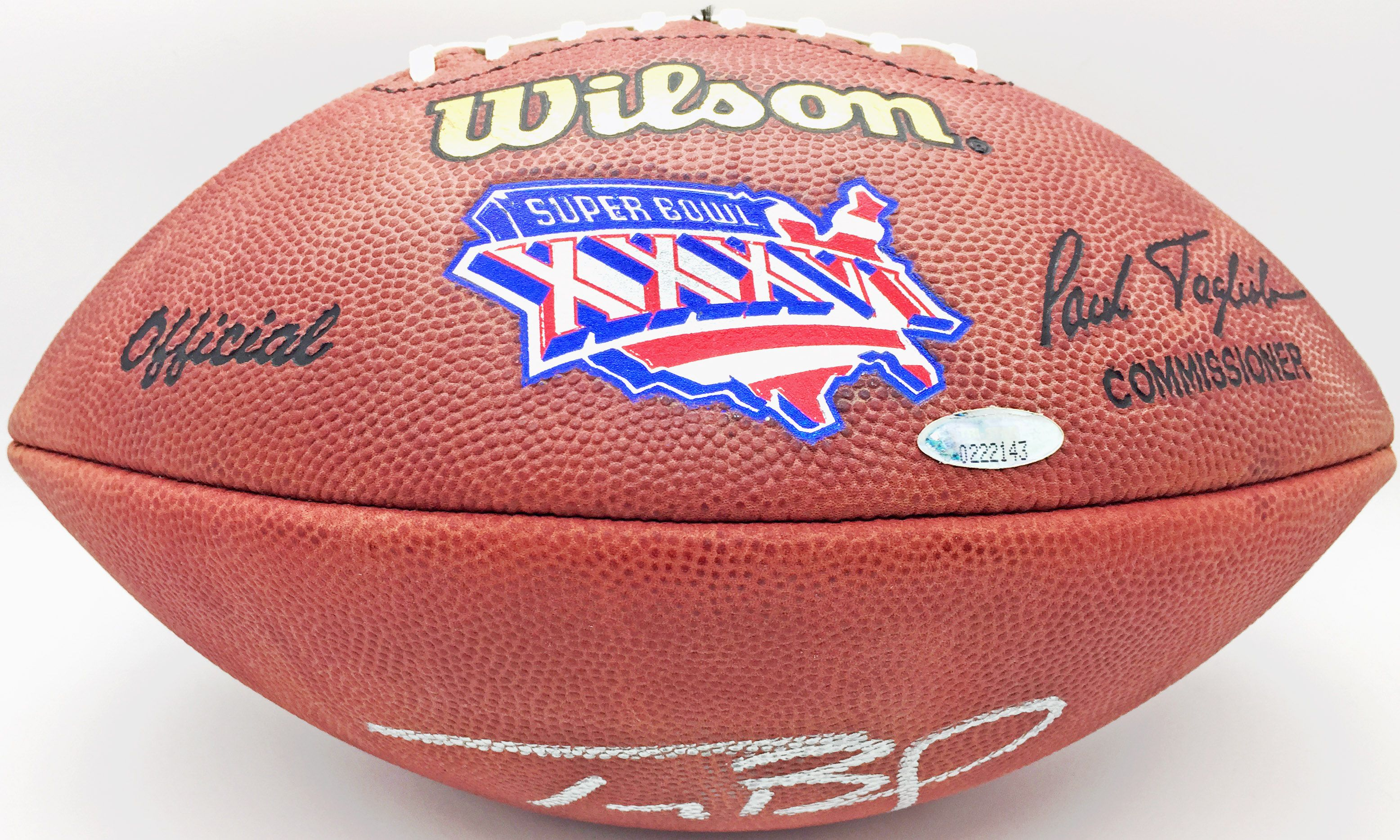 Lot Detail - Tom Brady Signed Official Super Bowl XXXVI NFL Football ... 07ad677fb