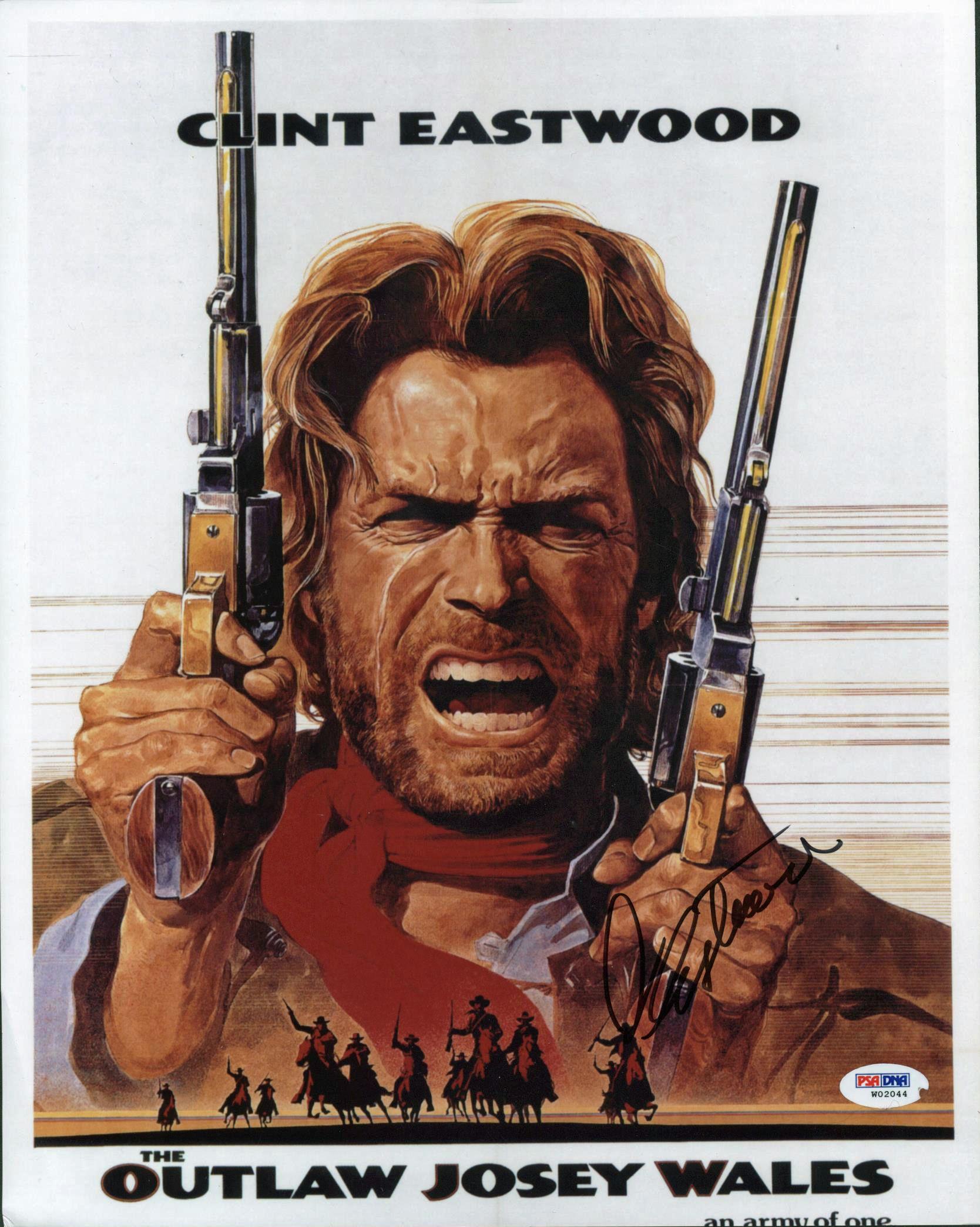 lot detail clint eastwood signed 11quot x 14quot color quotoutlaw