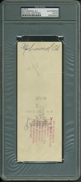 lot detail muhammad ali vintage signed 1969 bank check psa dna encapsulated. Black Bedroom Furniture Sets. Home Design Ideas