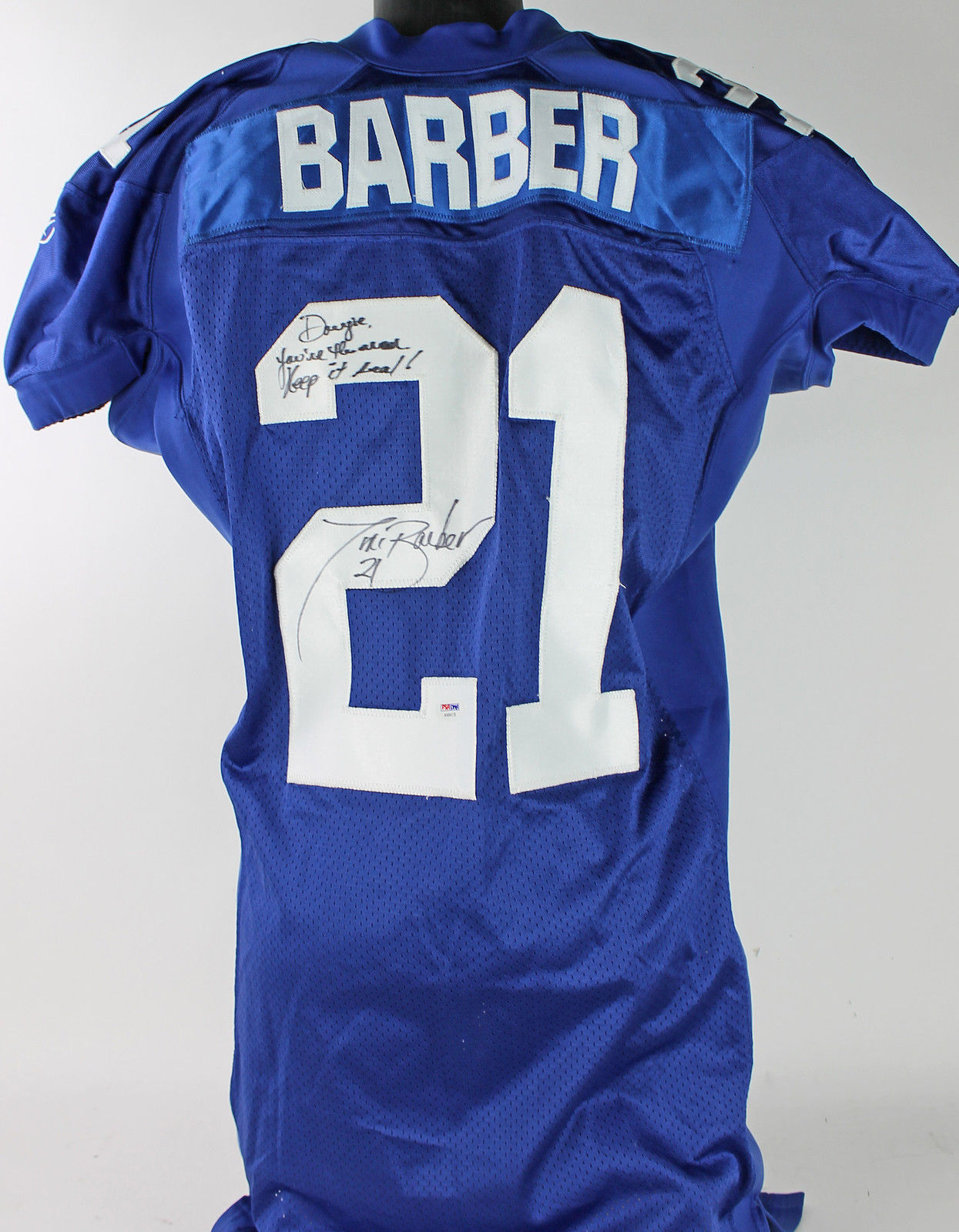 Barber Tiki : Lot Detail - NY Giants: Tiki Barber Game Used & Signed Jersey (PSA/DNA ...