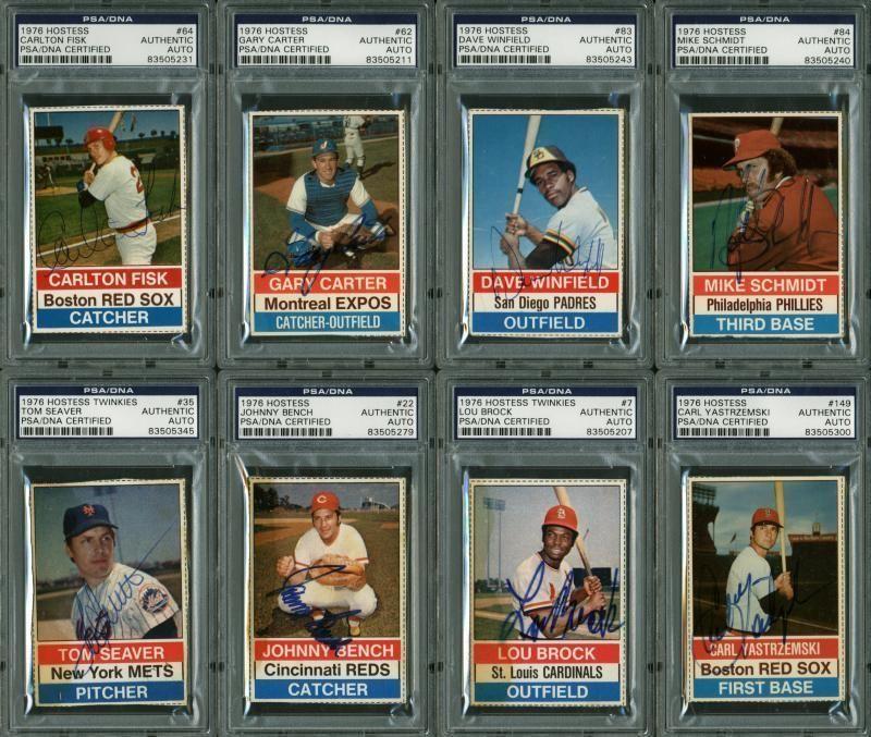 Lot Detail 1976 Hostess Baseball Complete Signed Set 150