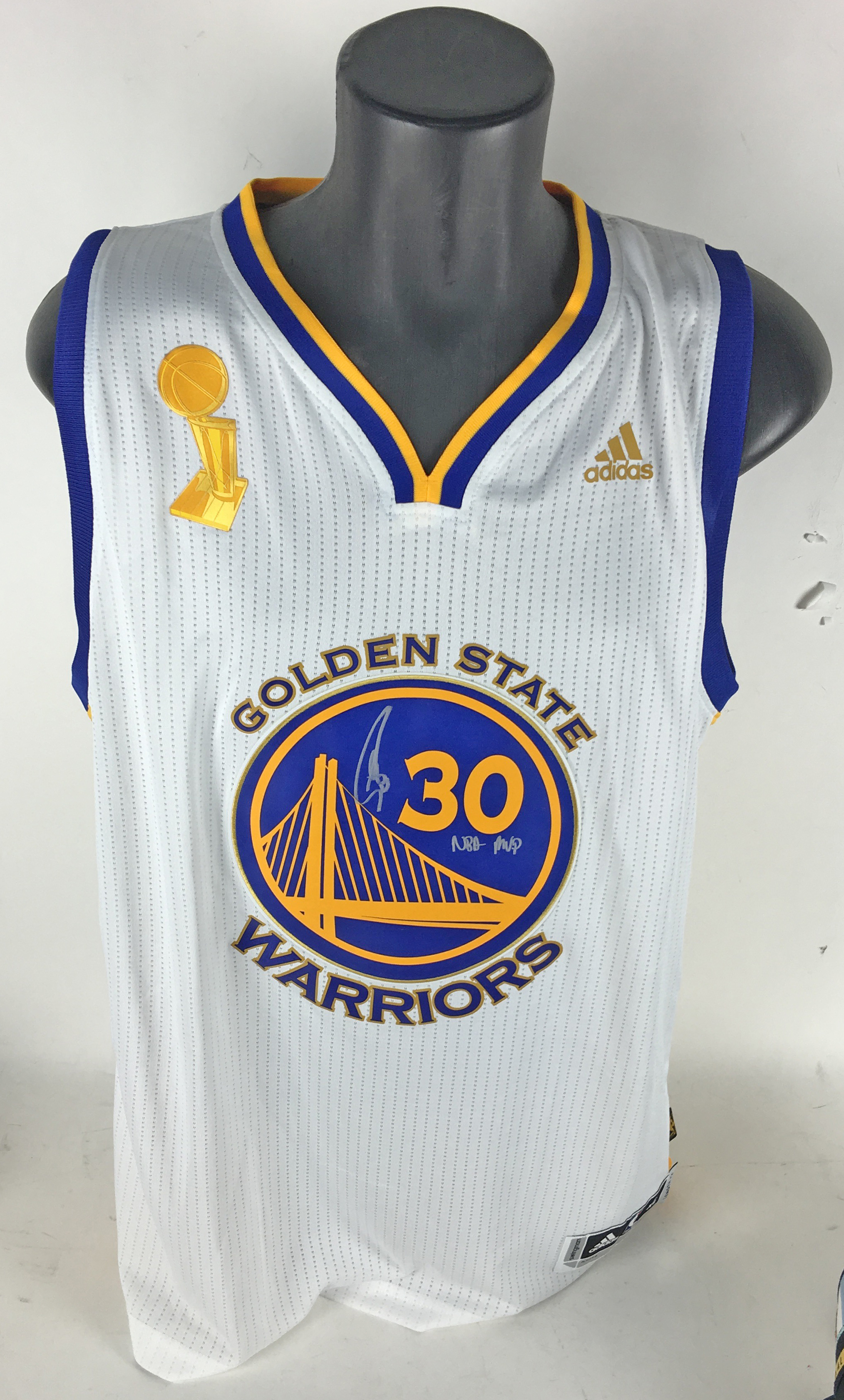 "Lot Detail - 73-9: Stephen Curry Signed & Inscribed ""NBA MVP"" Official NBA Finals Swingman ..."