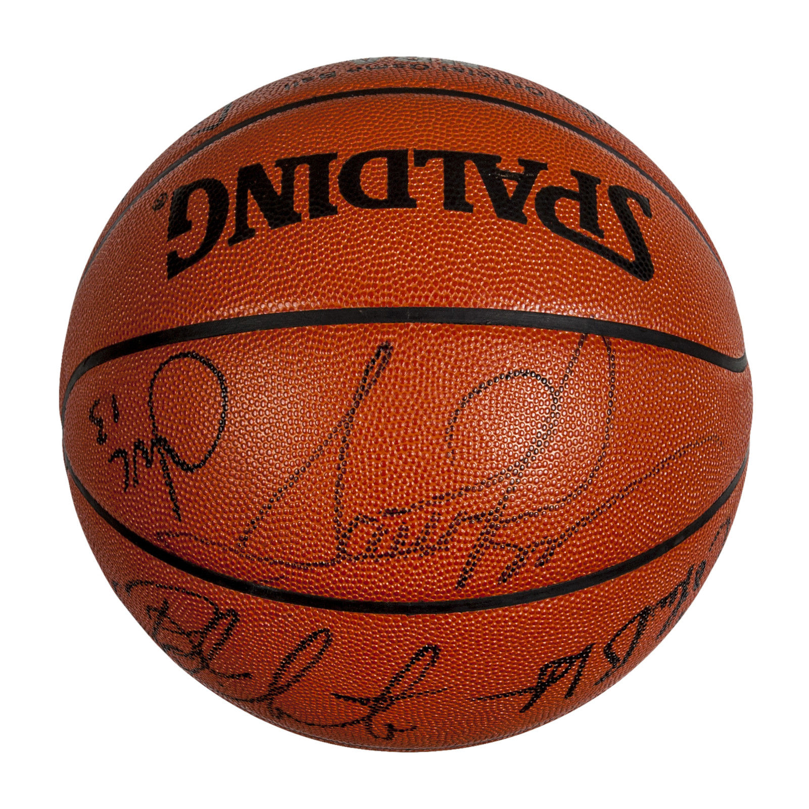 Lot Detail - 1994-95 Chicago Bulls Team-Signed Official NBA Basketball w/ Scottie Pippen & 12 ...