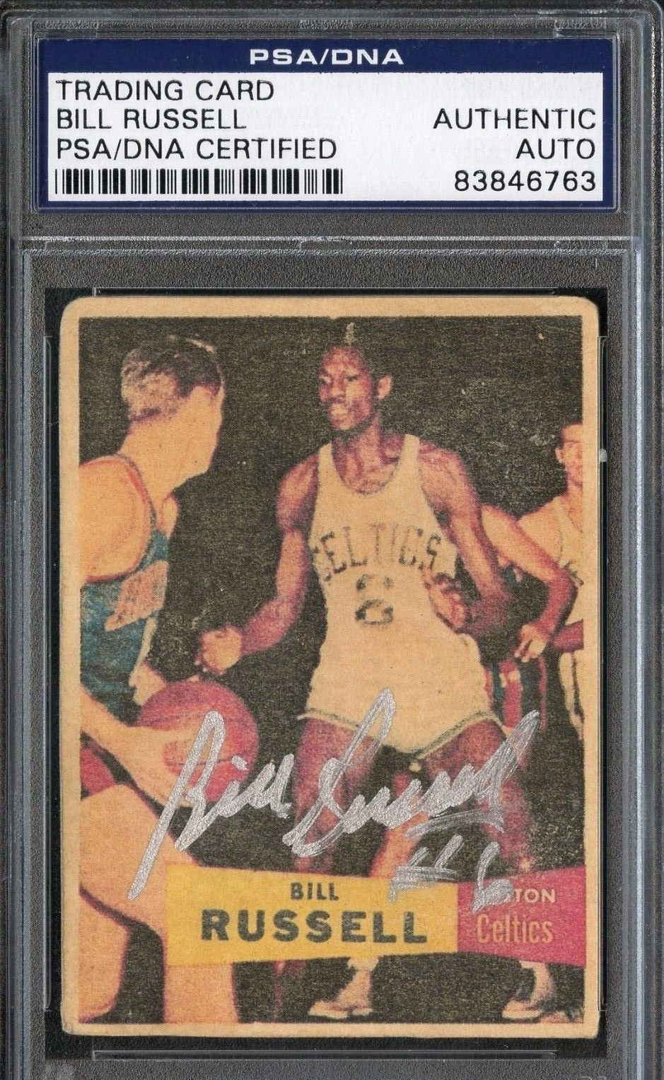 Lot Detail Bill Russell Rare Signed 1957 Topps Rookie Basketball