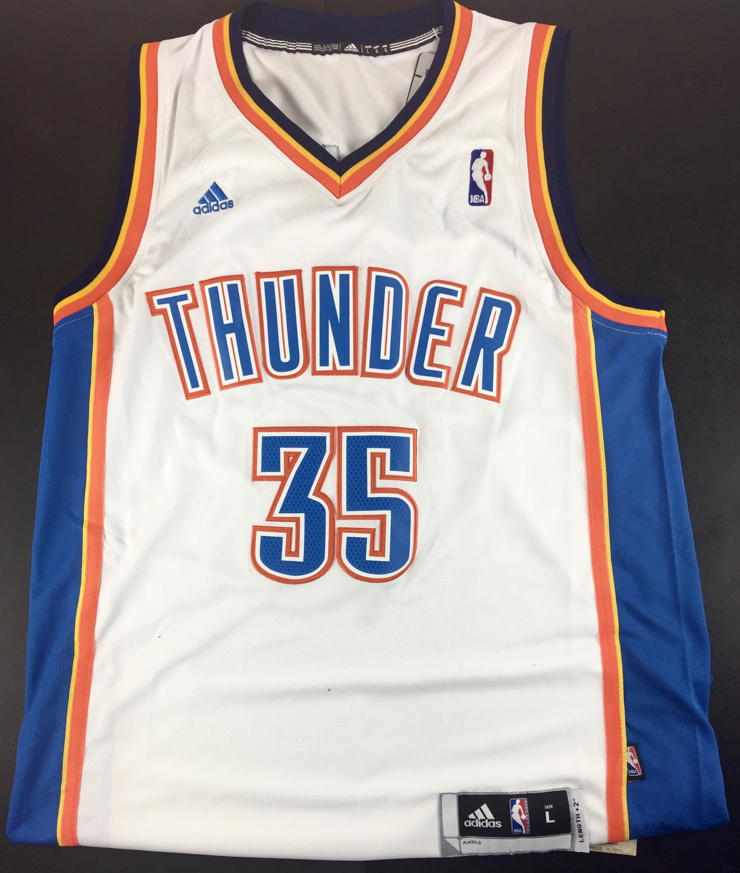 dc5d15200 Lot Detail - Kevin Durant Signed Adidas Swingman OKC Thunder Jersey ...