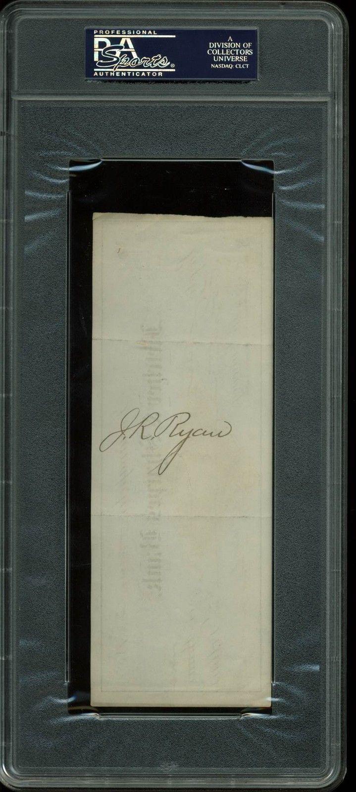lot detail benjamin harrison signed 1881 bank check psa dna encapsulated. Black Bedroom Furniture Sets. Home Design Ideas