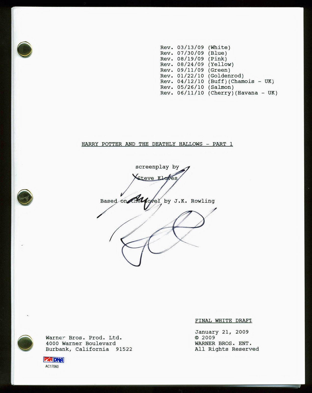 harry potter and the deathly hallows script pdf
