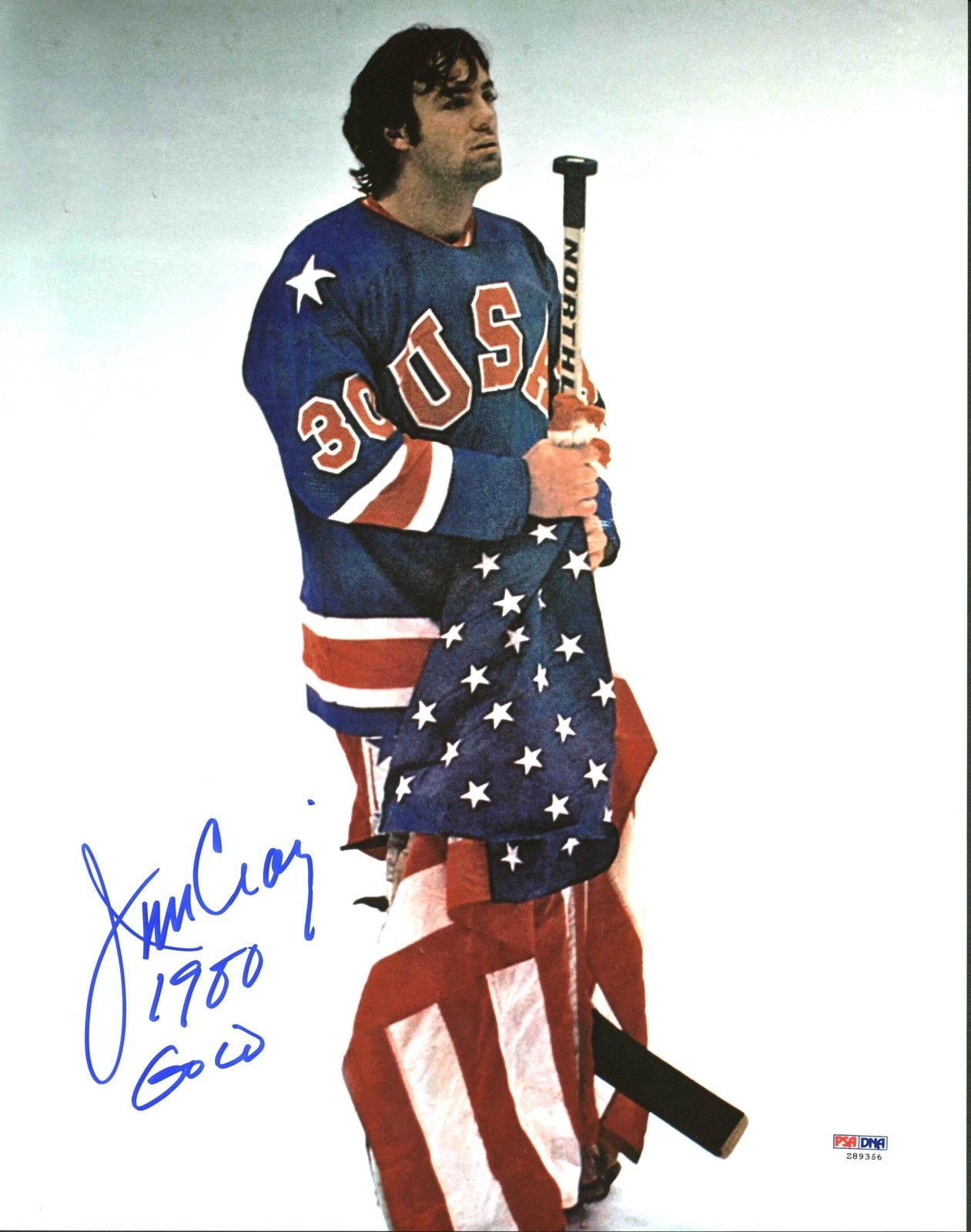 "Lot Detail - 1980 Team USA: Jim Craig Signed 11"" x 14 ... Jim Craig"