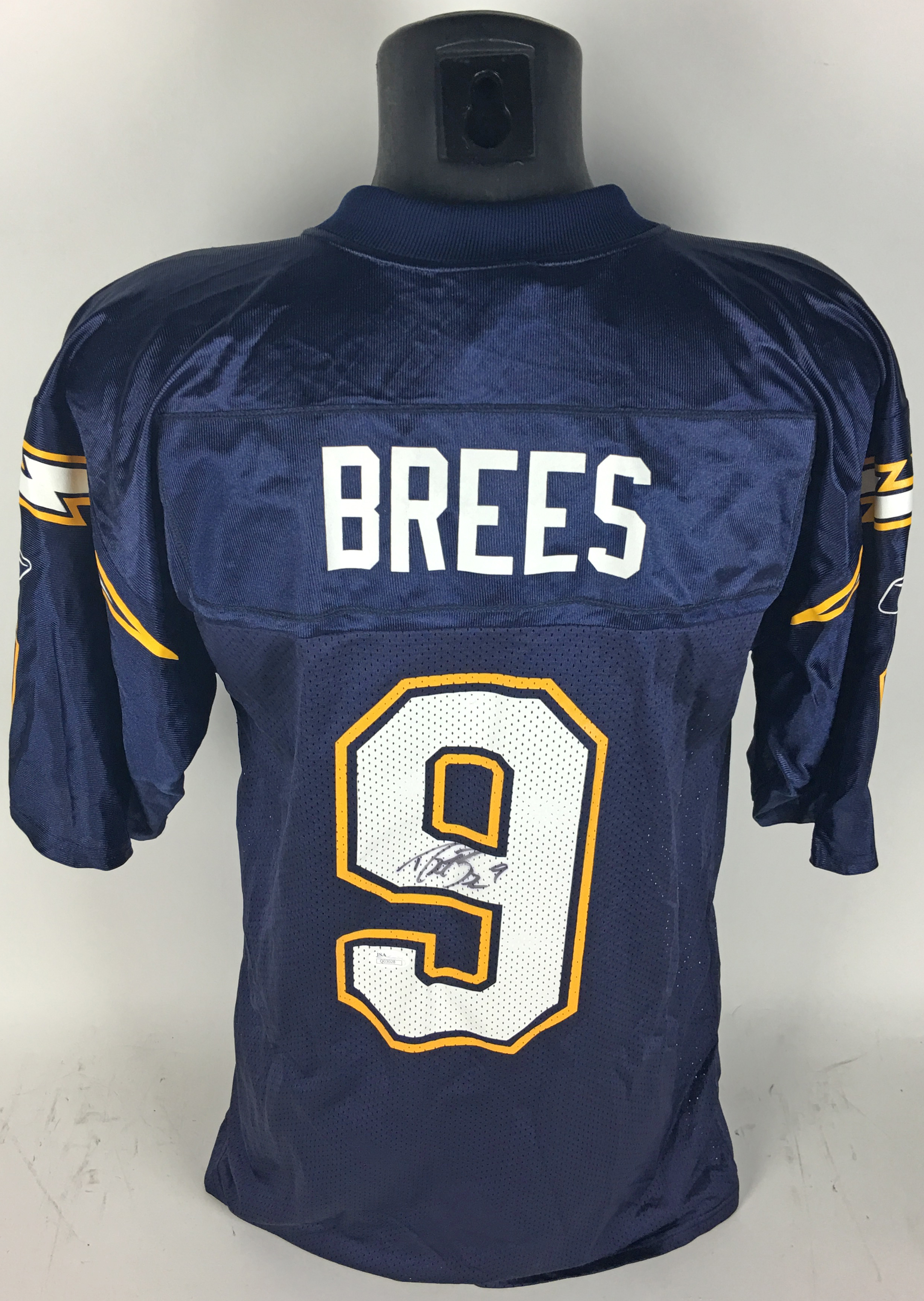 uk availability 731b8 3cbca Lot Detail - Drew Brees Rookie-Era Signed Chargers Jersey (JSA)
