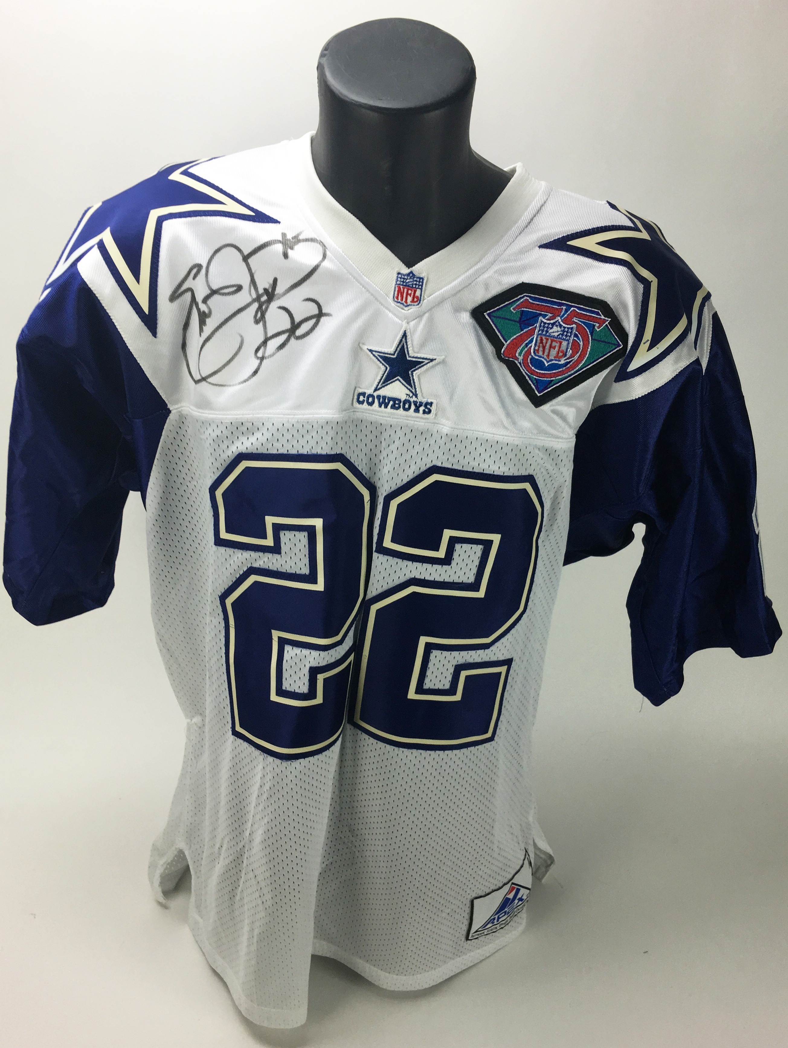 f0929508a Emmitt Smith Rare Signed NFL 75th Anniversary Official APEX Cowboys Jersey  (PSA/JSA Guaranteed ...