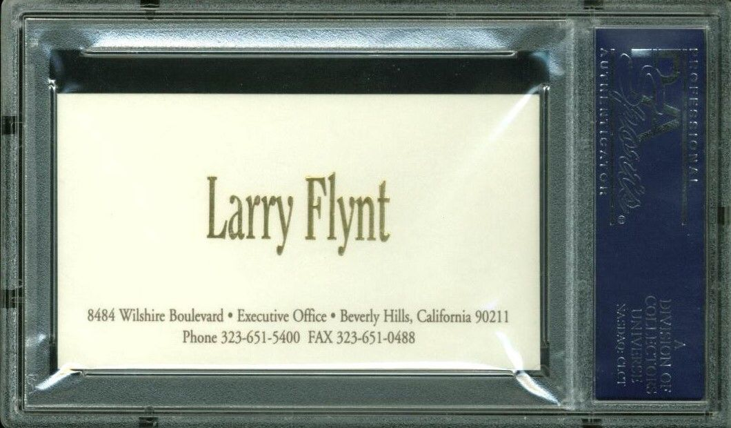 Lot Detail - Hustler: Larry Flynt Signed Business Card (PSA/DNA ...