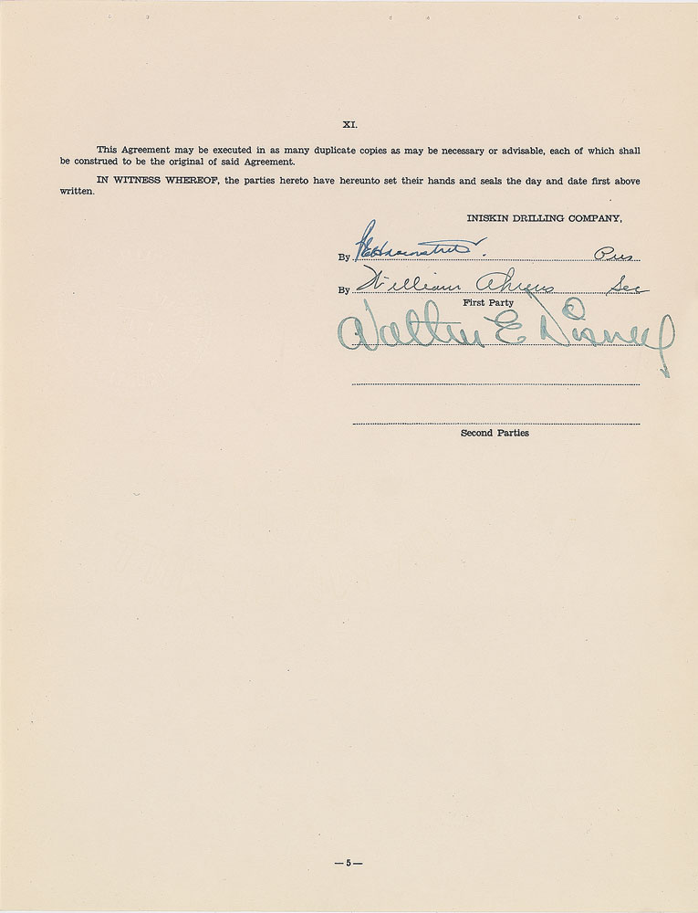Lot Detail Walt Disney Signed 1938 Contract Months Prior To The