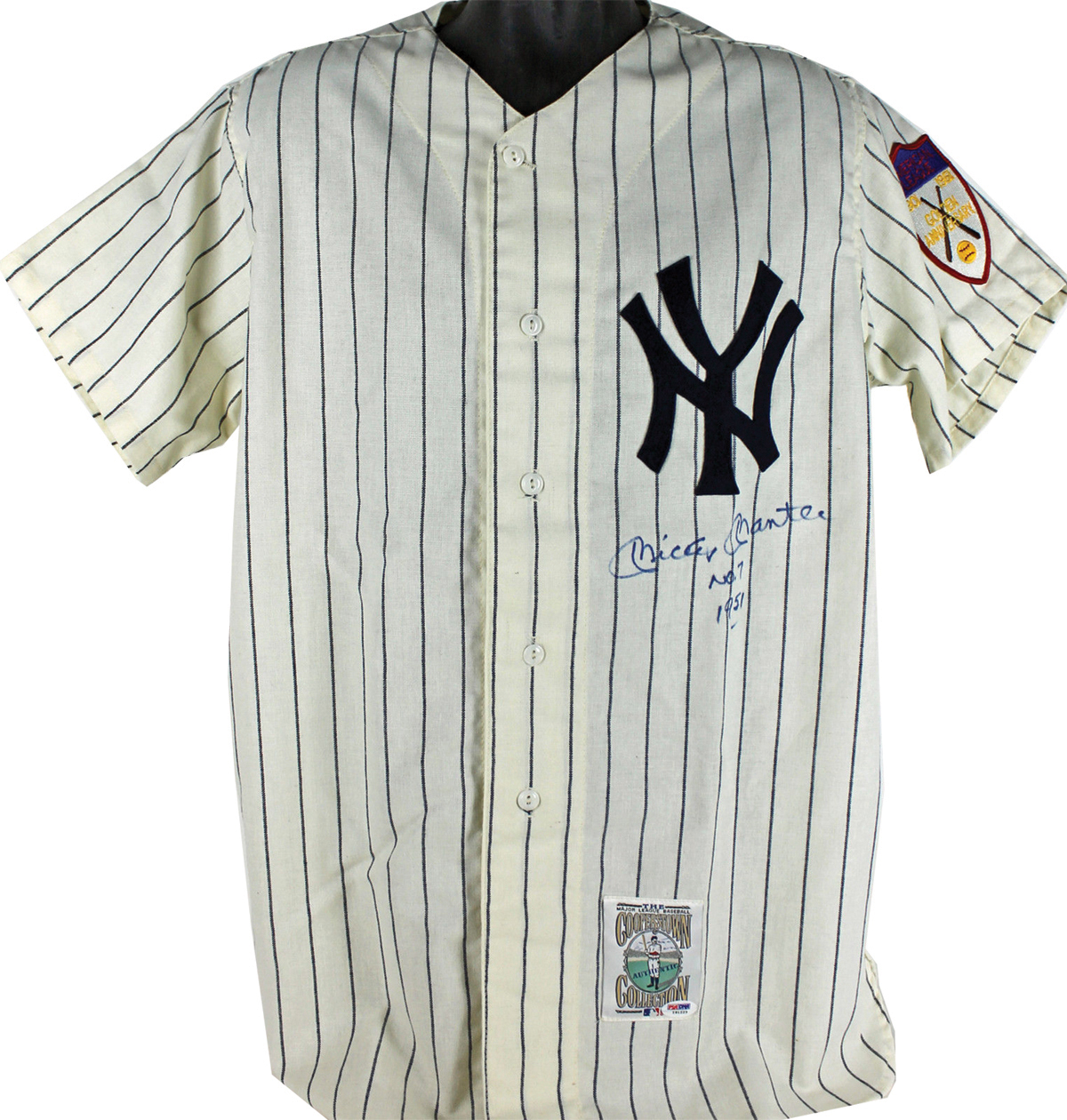 Lot Detail - Mickey Mantle Signed Mitchell   Ness Jersey w  RARE