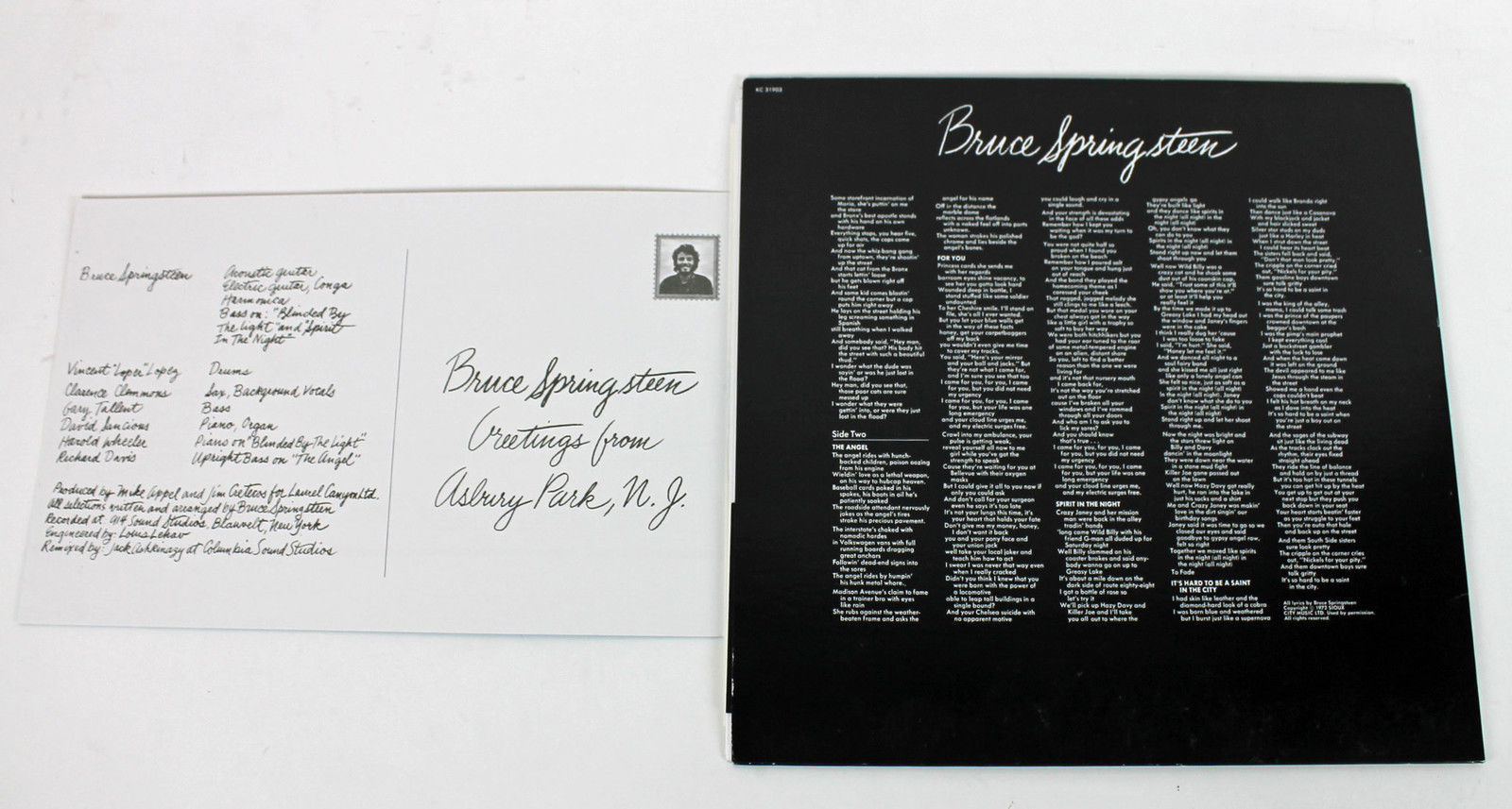 Lot Detail Bruce Springsteen Signed Greetings From Asbury Park Nj