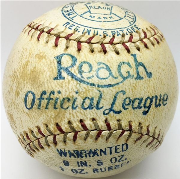 Babe Ruth Exceptional Signed 1927-Era Reach Baseball (Beckett & PSA/DNA)