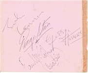 "The Beatles Vintage Group Signed 4.5"" x 5.5"" Album Page w/ All Four Members! (TPA Guaranteed)"
