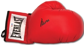 Muhammad Ali Signed Red Everlast Boxing Glove PSA/DNA Graded GEM MINT 10!