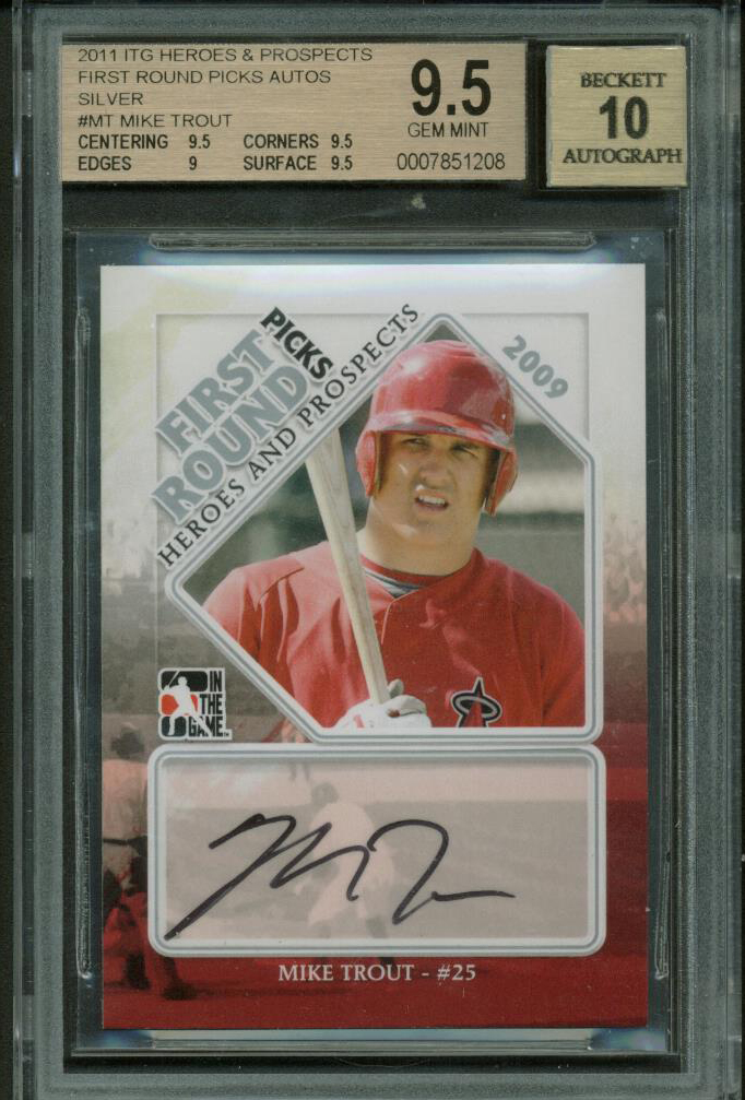Lot Detail Mike Trout Signed 2011 Itg Heroes Prospects Rookie