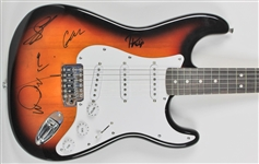 Radiohead Rare Group Signed Fender Squier Stratocaster Guitar (BAS/Beckett)