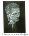 "Paul Newman Rare Signed 8"" x 10"" B&W Portrait Photo (BAS/Beckett)"