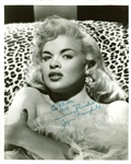"Jayne Mansfield Signed Stunning 8"" x 10"" Vintage Portrait Photograph (BAS/Beckett)"