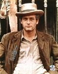"Paul Newman Signed 11"" x 14"" Color Photo from ""Butch Cassidy & the Sundance Kid"" (BAS/Beckett)"