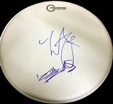 The Rolling Stones: Keith Richards & Charlie Watts Signed Drumhead (TPA Guaranteed)