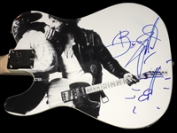 "One-of-a-Kind Custom Bruce Springsteen Signed ""Born to Run"" Squier Stratocaster Guitar w/ Artwork & Sketch! (PSA/DNA)"