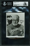 "Dr. Seuss Signed 3.75"" x 4.75"" Portrait Photograph (BAS/Beckett Encapsulated)"
