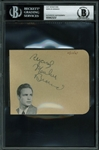 "Marlon Brando Signed 4"" x 4.5"" Album Page (BAS/Beckett Encapsulated)"