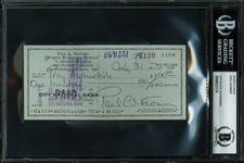 Paul Newman Signed Vintage 1973 Personal Bank Check (BAS/Beckett Encapsulated)