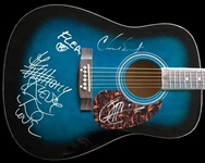 Red Hot Chili Peppers Group Signed Acoustic Guitar (TPA Guaranteed)