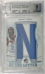 2013-14 SP Authentic Michael Jordan By The Letter Autographed Patch Card (BGS 9 Mint w/10 Autograph)