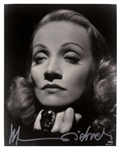 "Marlene Dietrich Stunning Signed 8"" x 10"" B&W Portrait Photograph (Beckett/BAS Guaranteed)"