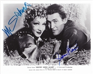 "Jimmy Stewart & Marlene Dietrich Rare Dual Signed 8"" x 10"" B&W Photo from ""Destry Rides Again"" (Beckett/BAS Guaranteed)"