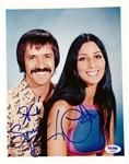 "Sonny & Cher Rare Dual Signed 8"" x 10"" Color Photo (PSA/DNA)"