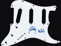 Johnny Winter Signed Strat Style Pickguard (Beckett/BAS Guaranteed)