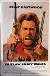 "Clint Eastwood Impressive Signed Full Sized Movie Poster for ""The Outlaw Josey Wales"" with HUGE Autograph! (Beckett/BAS Guaranteed)"