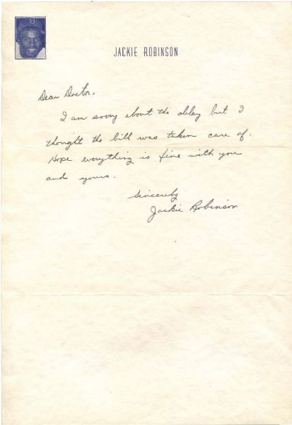 Jackie Robinson Handwritten & Signed Letter on Personal Stationary from MVP Year 1949 - PSA/DNA Graded GEM MINT 10!