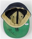 Rickey Henderson Game Worn & Signed NY Yankees Baseball Cap (PSA/DNA & Medeima)