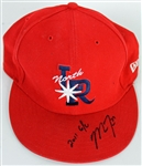 Mike Trout 2011 Game Used and Signed Arkansas Travelers Minor League Cap (Anderson/Trout COA)