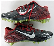 Tyrann Mathieu Game Used & Signed Nike Flywire Cleats (PSA/DNA)