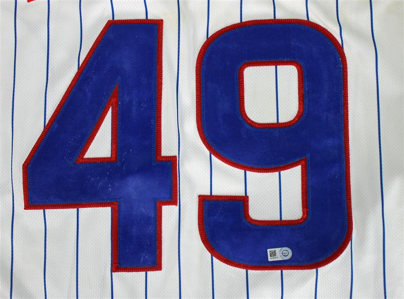Jake Arrieta 2014 Game Worn Chicago Cubs Jersey - 9/16/14 vs. Cincinatti Reds - A One-Hit, Complete Game Victory! (MLB Authenticated)