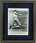 "Roger Maris Signed & Framed 8"" x 10"" B&W 61st Home Run Photo Graded MINT 9 (PSA/DNA)"