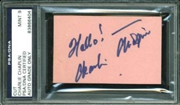 "Charlie Chaplin Signed 2"" x 3.25"" Signature Cut (PSA/DNA Encapsulated)"