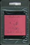 "Charles Schulz Hand-Drawn & Signed ""Snoopy"" Sketch (PSA/DNA Encapsulated)"