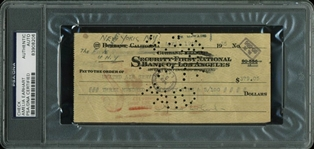 Amelia Earhart ULTRA RARE Signed Bank Check to United Air Services - One of Just a Few Known to Exist! (PSA/DNA Encapsulated)